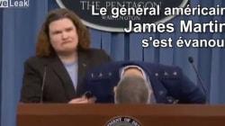 Un général américain s'effondre sur sa collègue, elle tente de garder le contrôle avec