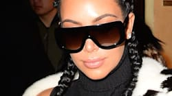 Kim Kardashian Debuts Platinum Blond Hair At Yeezy Season