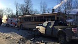 Accident impliquant un bus scolaire: 3 enfants