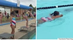 Girl Who Lost Arm After Dog Attack Swims First Race In Inspirational