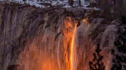 Ces images d'une cascade de feu vont vous