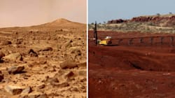 Space Mining: One Of These Pics Is Mars, The Other's