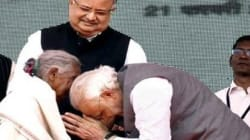 Modi Touches Feet Of 104-Year-Old Woman Who Sold Goats To Build