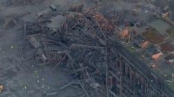 Les images impressionnantes de l'effondrement d'une centrale thermique en