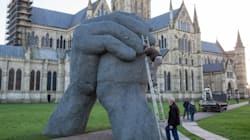 Cathedral Moves Statue Because Texters Keep Walking Into