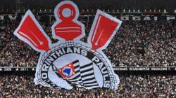 Cai parte de teto do estádio do Corinthians. Obra é da