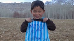 Boy Who Wore Bag Jersey Forced To Leave Afghanistan Over