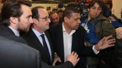 François Hollande est arrivé sous les huées des