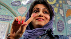 Iranians Celebrate At The Voting Booth On Election