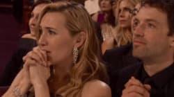 La réaction de Kate Winslet quand Leo DiCaprio a remporté son