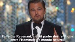 Le discours inattendu de Leo Dicaprio après son premier