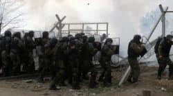 Macedonian Police Fire Tear Gas On Migrants Storming Greek