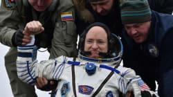 De retour après 340 jours dans la Station spatiale internationale, un record!