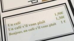 Ce menu d'un restaurant français étonne les internautes
