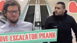 Le canular de Français dans un escalator fait le tour du