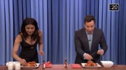 Priyanka Chopra Clearly Loves Wings More Than Jimmy Fallon