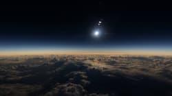 L'éclipse totale était encore plus impressionnante vue du