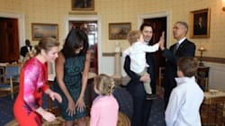 POTUS And FLOTUS Fall In Love With Trudeau's Children,