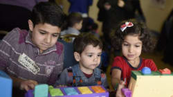 Syrian Kids Waiting For New Homes, Schools Go To Play