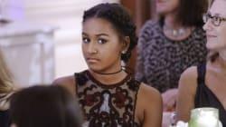 Sasha And Malia Obama Sit Through Their Parents' Party Looking SO Grown