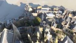 La vue depuis le point le plus haut du Mont-Saint-Michel est à couper le