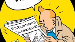 'Mon Dieu...': Weeping Tintin Pays Tribute To Brussels