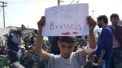 La foto viral del niño refugiado que se solidariza con Bruselas desde