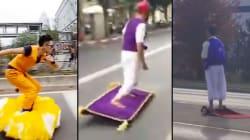 Quand les internautes «volent» grâce à leur hoverboard
