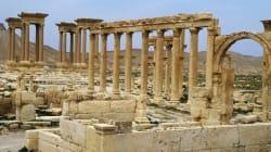 Le site de Palmyre en grande partie
