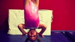 Emma, tre anni, è già una bimba prodigio della ginnastica