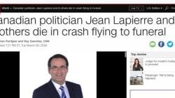 Les médias étrangers parlent de la disparition de Jean