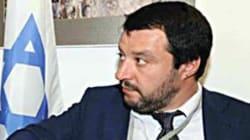 Per Israele Salvini toglie la felpa e sfodera la