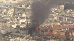 Les images impressionnantes d'une explosion à Paris filmée par les