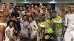 Cristiano Ronaldo fête la victoire du Real Madrid en sous-vêtements