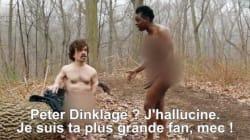 Tyrion Lannister nu dans une parodie de