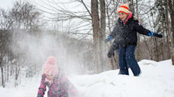 Syrian Refugee Children Delighted By How 'Soft' Snow