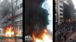 Barricades et poubelles brûlées, les lycées bloqués vus des réseaux