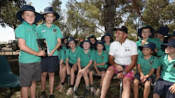 These Little Kids Look Super Unimpressed With Tony Abbott's