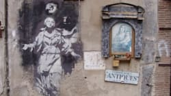 La Madonna con la pistola, l'unica opera italiana di Banksy è stata