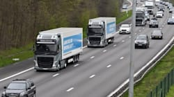 Des camions autonomes viennent de traverser