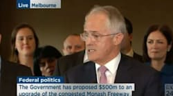 Malcolm Turnbull Brought A Massive Squad To The Biggest Press Conference