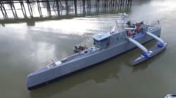Le bateau autonome chasseur de sous-marins de l'armée