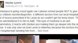 L'appel d'une maman sur Facebook contre l'ibuprofène pendant la