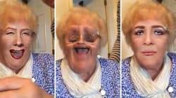 Cette mamie découvre les filtres, et ses fous rires sont