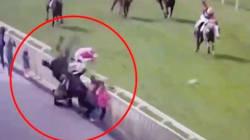 Un cheval percute des spectateurs lors d'une course
