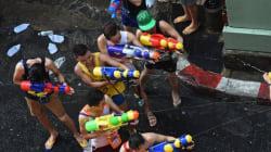 Une bataille d'eau géante à Bangkok comme si vous y étiez