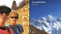 Ils vont utiliser Snapchat... sur l'Everest