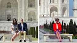 William et Kate rendent hommage à Diana au Taj Mahal