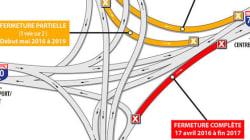 Échangeur Turcot: fermetures de voies achalandées... pour