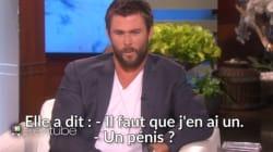 Chris Hemsworth est plutôt à l'aise avec les questions sur le genre même quand ça concerne sa